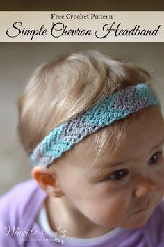 Free Crochet Pattern - Simple Chevron Headband | Crochet this adorable headband…