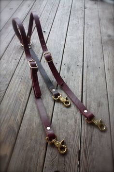 Handmade Leather Suspenders Steampunk with brass hardware on Etsy, $60.00
