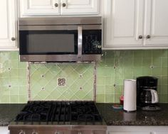 Seafoam Glass with Bronze Tiles