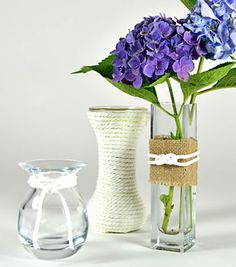 Love these easy #DIY cable cord vases! #creativitymadesimple