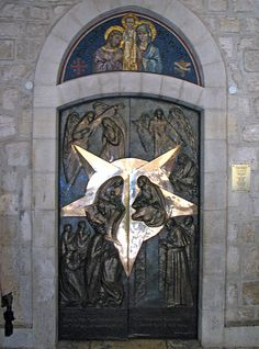 The Door of Peace in Church of St. Catherine, Bethelem - Israel