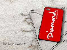 Diamond Supply Company Red iPhone 4 iPhone 4S Case by gardenpiano, $15.79
