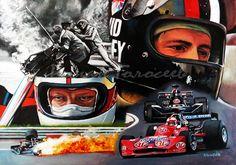 Спасение из огня,Роджер Уильямсон и Дэвид Пэрли, March-Cosworth 731, ГП Зандворт 1973,  21х30, картон,масло, 03-05.12.2017