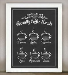 Specialty Coffee Drinks: An Illustrated Guide