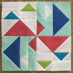 "Duck Duck Goose 12.5"" quilt block by Orchid Owl quilts"