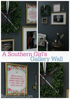 A Southern Girl's Gallery Wall inspired by @Jenna @ Rain on a Tin Roof 's Grannie