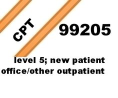 CPT 99205 highest level new patient office/outpatient coding lecture.