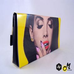 """Handmade Printed Clutch - """" Lana Del Rey"""" (Limited Edition)  #Hip #Hipyourteez #Accessories #Mariettas #Ηandmade #Printed #Clutch #Bags #Card_Holders #Lana_Del_Rey #James_Dean #Rihanna #RiRi"""