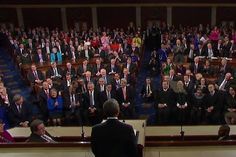 The State of the Union address can often feel like a cheer-fest. But last night, there was one moment in which the audience met a sentence obviously intended to be an applause line with profound silence instead.