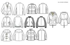 Types of Jackets, clothes; How to Draw Manga/Anime