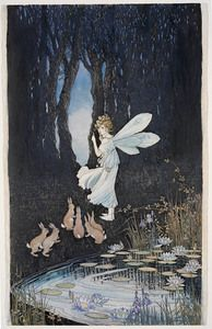 Fairies by Margaret Clark, Australian painter and illustrator, born in 1901. Commissioned in 1918 to decorate confectionery boxes for the firm of Sweetacres | State Library of New South Wales, Pictures Catalogue