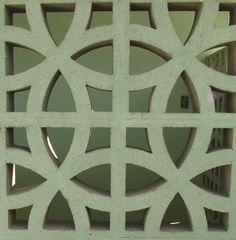 mid-century cement blocks