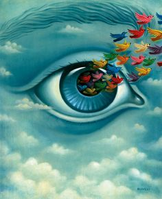 Art And Illustration, Surrealism Painting, Pop Surrealism, Eye Painting, Future Vision, Ouvrages D'art, Eye Art, Psychedelic Art, Surreal Art