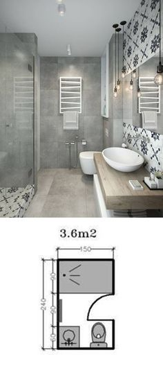 Shower Room Restoration Concepts: restroom remodel expense, bathroom ideas for s. - Shower Room Restoration Concepts: restroom remodel expense, bathroom ideas for small bathrooms, tin - Bathroom Layout, Bathroom Interior, Modern Bathroom, Bathroom Ideas, Small Bathrooms, Bathroom Cabinets, Mirror Bathroom, Shower Mirror, Small Baths