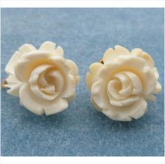 Vintage Hand Carved Roses 12K GF Screw back Earrings Listing in the Retro (1940s),Antique & Vintage,Jewelry & Watches Category on eBid United States