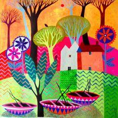 Pinzellades al món: Pobles amb encant i colors: il·lustracions de Sunita Khedekar,