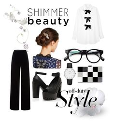 """""""Shimmer Black White"""" by jeyjulia4 on Polyvore featuring See by Chloé, T By Alexander Wang, CLUSE, ALDO and Marc Jacobs"""