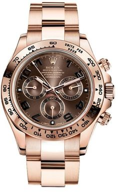 Shop for Daytona Rose Gold Chocolate Dial Watch by Rolex at ShopStyle. Rolex Watches For Men, Fine Watches, Luxury Watches, Cool Watches, Dream Watches, Wrist Watches, Men's Watches, Rolex Daytona Rose Gold, Rolex Daytona Watch