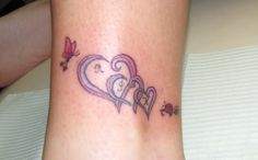 1000 ideas about two hearts tattoo on pinterest heart for Tattoos with grandchildren s names