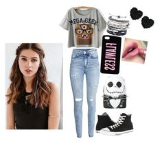 """""""geeks rule"""" by blueisthenewgrey on Polyvore featuring H&M, Converse, Domo Beads, Betsey Johnson and REGALROSE"""