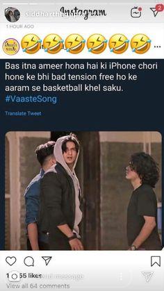 Koi baat nahi khawab dekhne per pabandi nahi hai yahan carry on. Latest Funny Jokes, Funny Jokes In Hindi, Super Funny Memes, Funny School Jokes, Cute Funny Quotes, Some Funny Jokes, Crazy Funny Memes, Really Funny Memes, Funny Relatable Memes