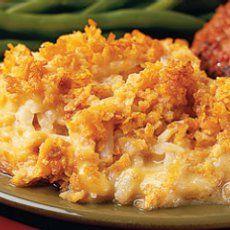 Cheesy corn flake potatoes. Christmas fav
