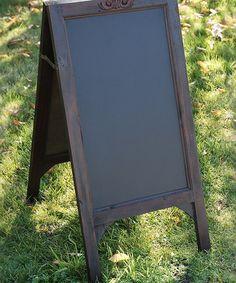 Look at this #zulilyfind! Black Standing Chalkboard Easel #zulilyfinds