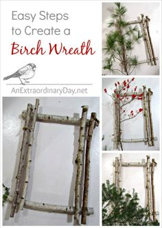 Easy Steps - How to Create a Birch Wreath :: AnExtraordinaryDay.net