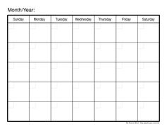 Monthly Calendar With Note Section Using This For Organizing Bill
