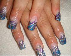 blue glitter tips - Nails Art photos, nail art design. List 2016 blue glitter tips stylist photos