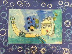 ART with Mrs. A: Kindergarten Snorkelers