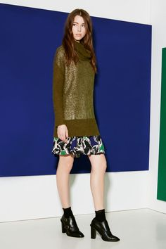 Gotha Look Autunno Inverno 2015-16 Total Look Fall Winter Knitwear, silk, prints, elegant, chic, feminine.