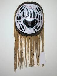 Spirit Bear turtle shell shield Native American Crafts, American Indian Art, Native American Indians, Native Americans, Native Art, Native Style, Indian Artwork, Bear Decor, Skull Painting