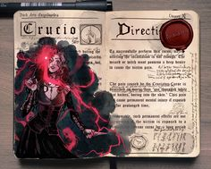 Crucio by Gabriel Picolo Harry Potter Journal, École Harry Potter, Mundo Harry Potter, Harry Potter Drawings, Harry Potter Universal, Bellatrix Lestrange, Gabriel Picolo, Severus Rogue, Fandoms