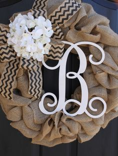 Burlap+Wreath+++Wreaths++Summer+Wreath+for+door++by+OurSentiments,+$90.00