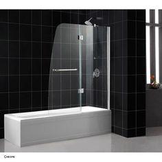 Bath Authority DreamLine Aqua Clear Glass Tub Door   Free Shipping