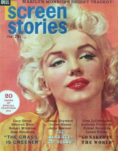 "Marilyn Monroe in a photo by Hal Berg on the cover of ""Screen Stories"" magazine, USA, February 1961."