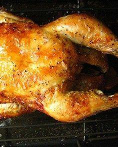 Crispy, Buttery, Heavenly Roasted #Chicken Recipe (just salt, pepper, butter, lemon)