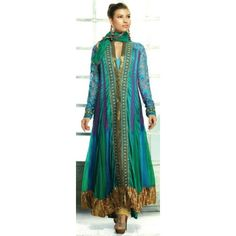Blue Designer Unstitched Suit