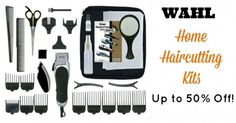 Wahl Hair Trimmers!  Save money by doing hair cuts at home!  The average price for a haircut it $15 if you cut your hair once a month that is $180 a year multiply that by every male member of your household and it really adds up! Save money by making a small investment in some hair clippers and with the guards that are included you can easily cut your own hair yourself!Right now Amazon has selectWahl Clippers on sale more than50% off!  Wahl Color Pro 20 Piece Complete Haircutting Kit $17.09…