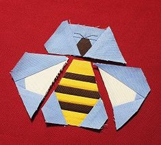English Paper Piecing Vorlage Biene
