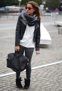 Isabel Marant Sneakers, Givenchy Antigun- love this edgy look.