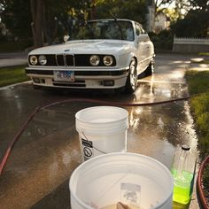 Bimmer Bath! @samhurly makes washing his #BMW a front yard party in this #BMWrepost.