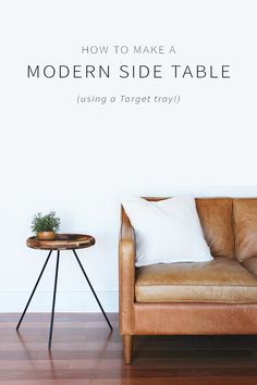 How to make a modern side table using a simple target tray!