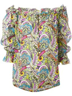 ¡Cómpralo ya!. Etro - Paisley Off The Shoulder Peasant Blouse - Women - Silk - 42. Multicolour silk paisley off the shoulder peasant blouse from Etro featuring an off the shoulder design, an elasticated neckline with a drawstring, half sleeves, elasticated cuffs and a paisley print. Size: 42. Color: Yellow/orange. Gender: Female. , tophombrosdescubiertos, sinhombros, offshoulders, offtheshoulder, coldshoulder, off-the-shouldertop, schulterfreiestop, tophombrosdescubiertos, topdosnu…