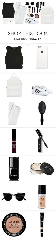 """Minimalist"" by anandptr on Polyvore featuring Topshop, PB 0110, adidas, Antik Batik, H&M, NYX, Bobbi Brown Cosmetics, Chanel, NARS Cosmetics and MAKE UP FOR EVER"