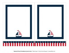 Free Nautical Party Printables