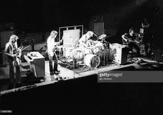 King Crimson perform live on stage in London in 1973 L-R David Cross, John Wetton, Bill Bruford, Robert Fripp