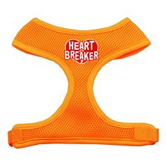 Mirage Pet Products Heart Breaker Soft Mesh Dog Harnesses, Medium, Orange -- To view further for this item, visit the image link. (This is an affiliate link and I receive a commission for the sales)