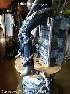 Denim done right in a retail display... Debi Ward Kennedy . writer & designer: THIS is Goodwill?!